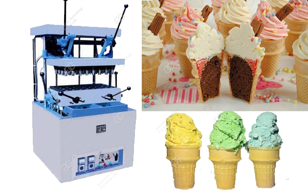 Ice Cream Cone Baking Machine for 24 Moulds