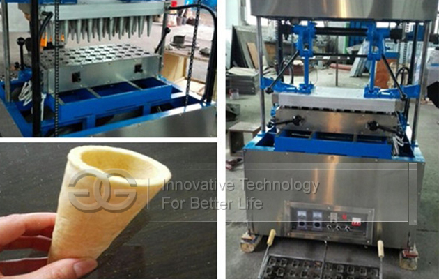 Cone Dough Making Machine Sold to Korea